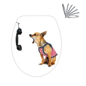 מושב אסלה כלב וטלפון