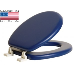 מושב מרופד כחול