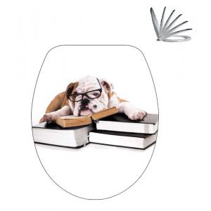 מושב אסלה כלב וספרים