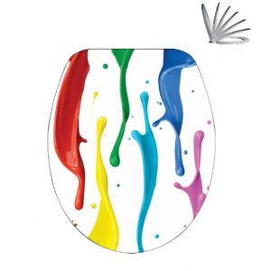 מושב אסלה צבעוני