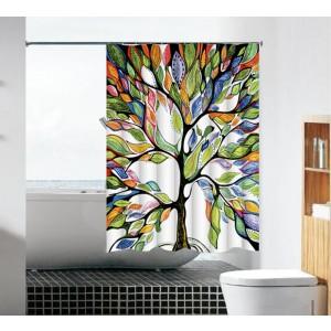 וילון עץ צבעוני