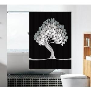 וילון עץ שחור